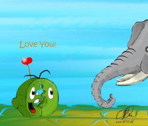 love the elephants