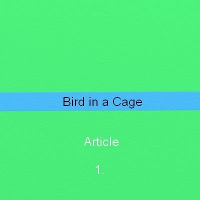 Bird in a cage freedom house