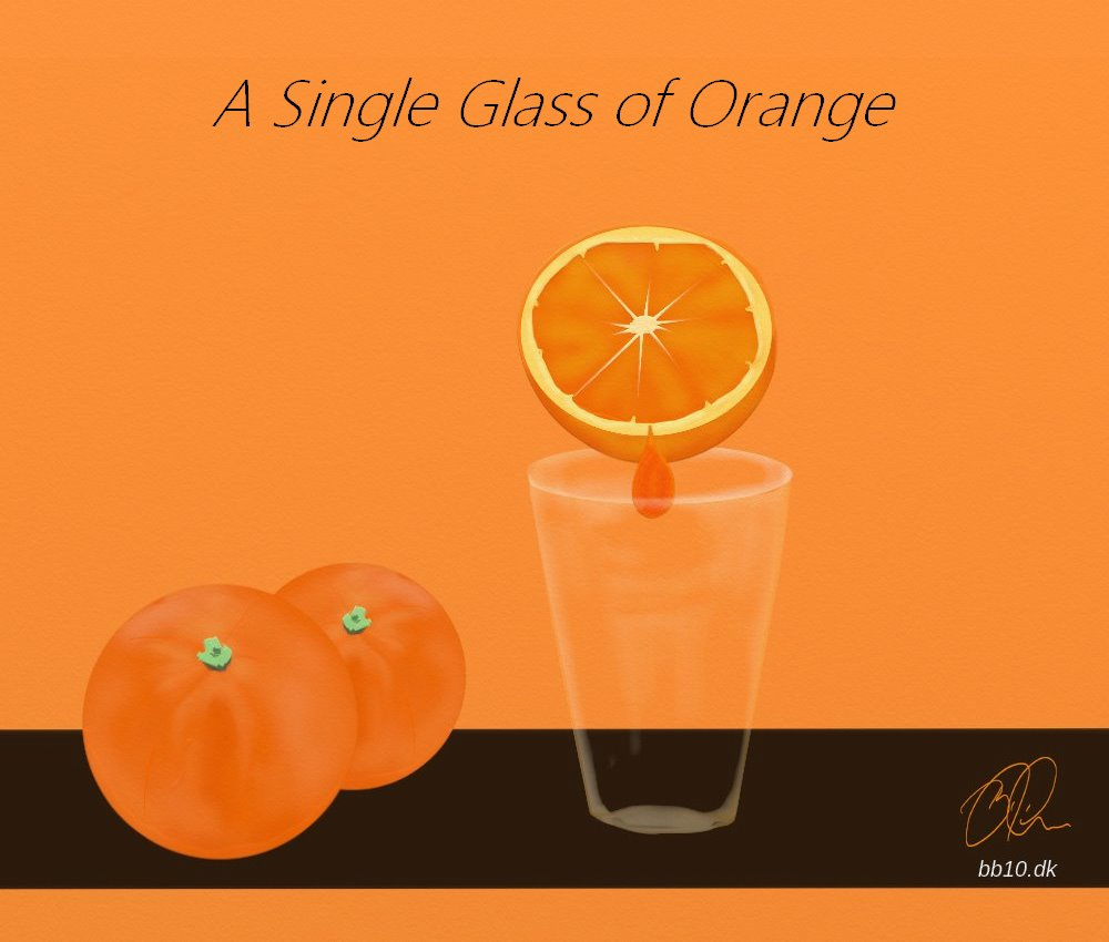 single glass of Orange