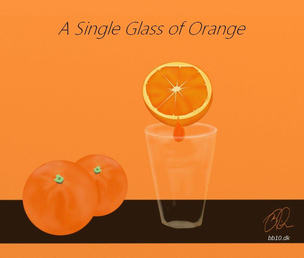 single glass of Orange