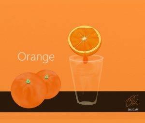 Glass of orange
