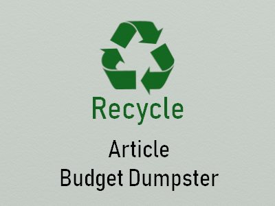 Article Recycle Budget Dumster
