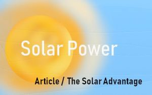The Solar Advantage