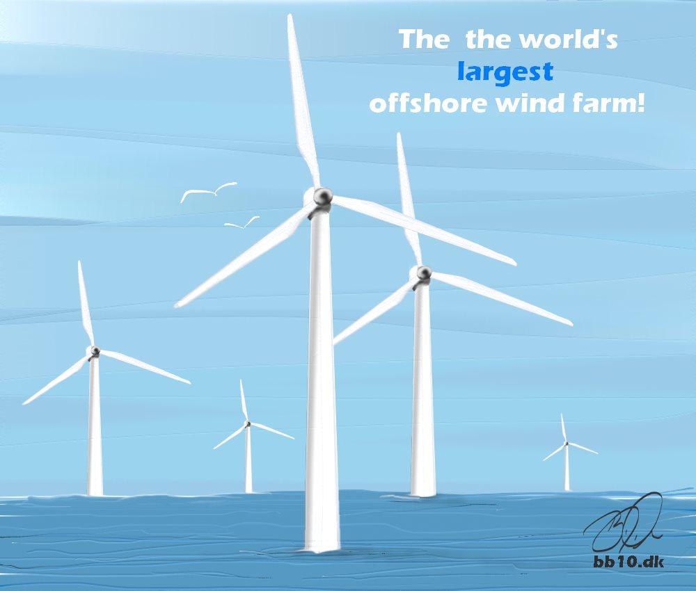 The world's largest Windfarm Ørsted