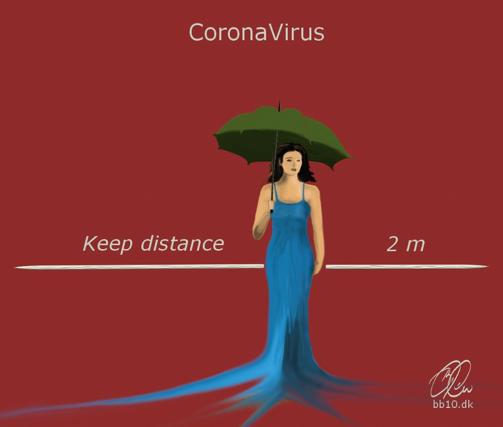 Keep Distance to Corona World Health Organization