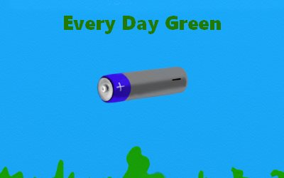 Article Battery Every Day Green