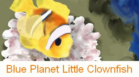 Clownfish blue planet