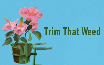 Trim That Weed Renovating your garden